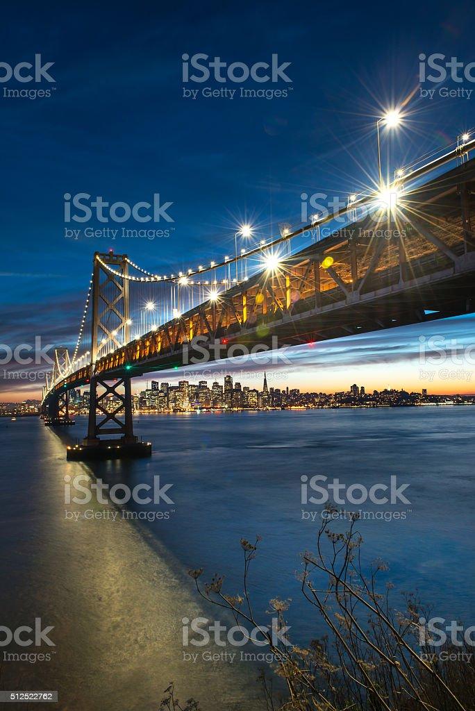 Bay Bridge San Francisco stock photo