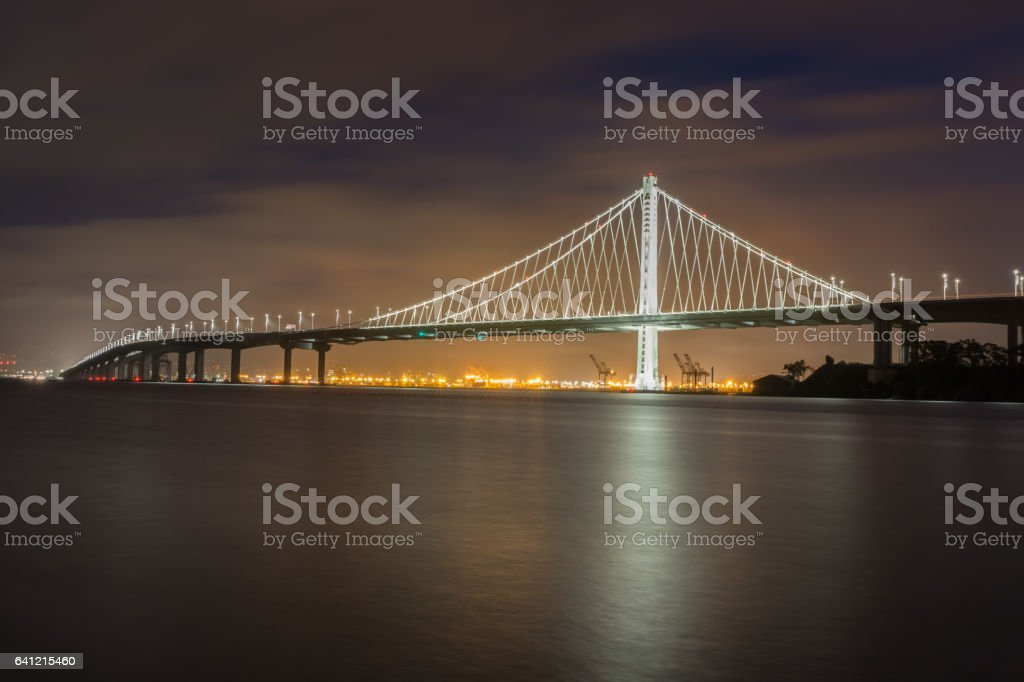 Bay Bridge's Eastern Span Replacement at Night stock photo
