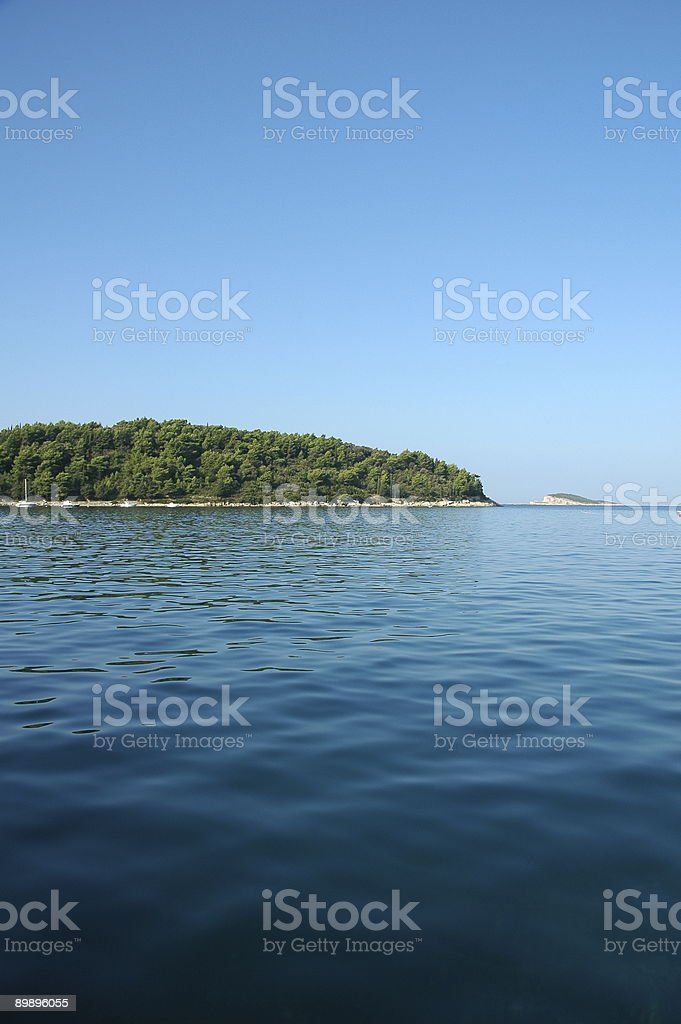 Bay, Cavtat, Croatia. royalty-free stock photo