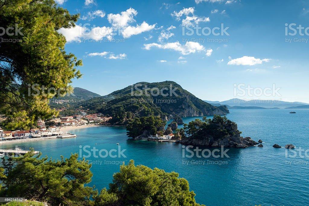 Bay in Greece stock photo