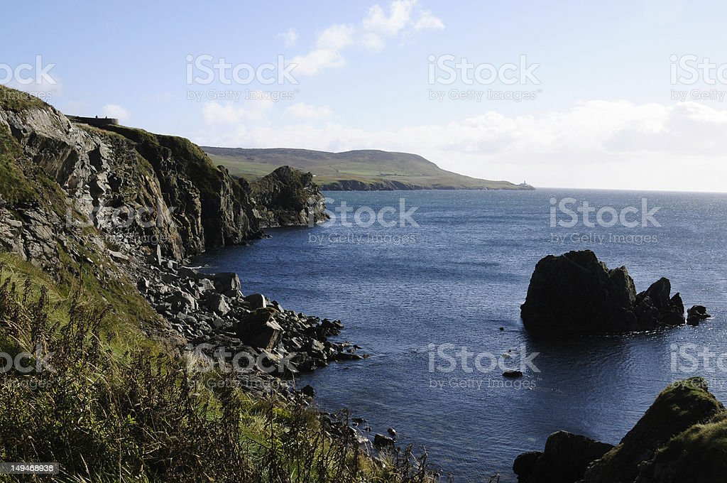 bay in Lerwick royalty-free stock photo