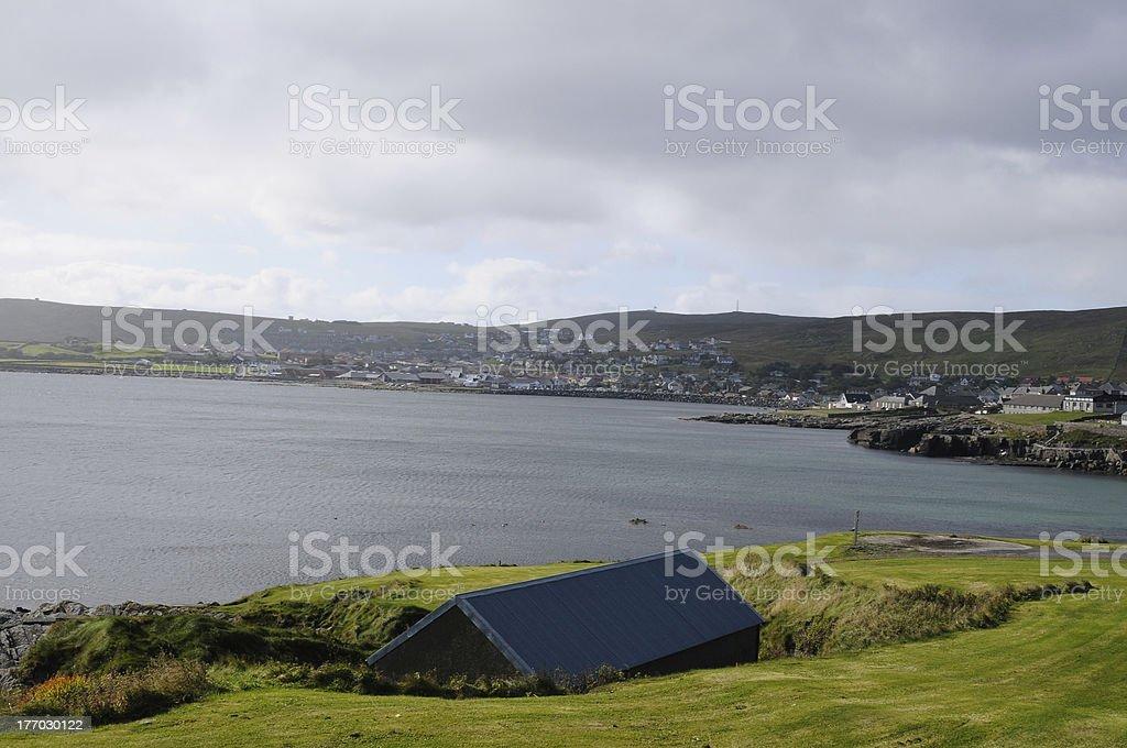 bay in Lerwick royalty-free stock photo
