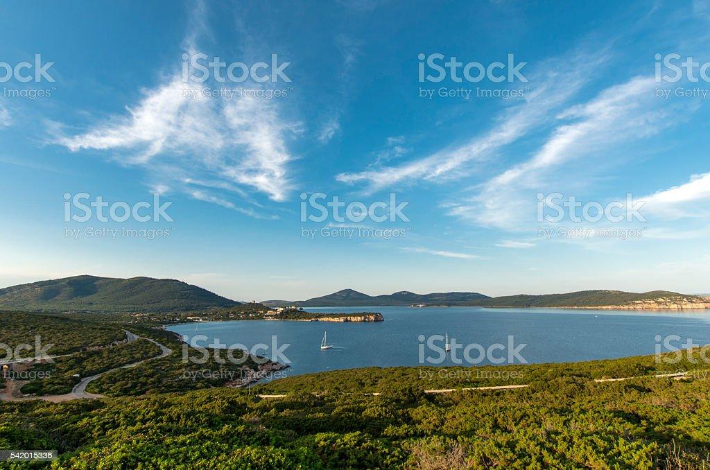Bay in the Mediterranean Sea stock photo