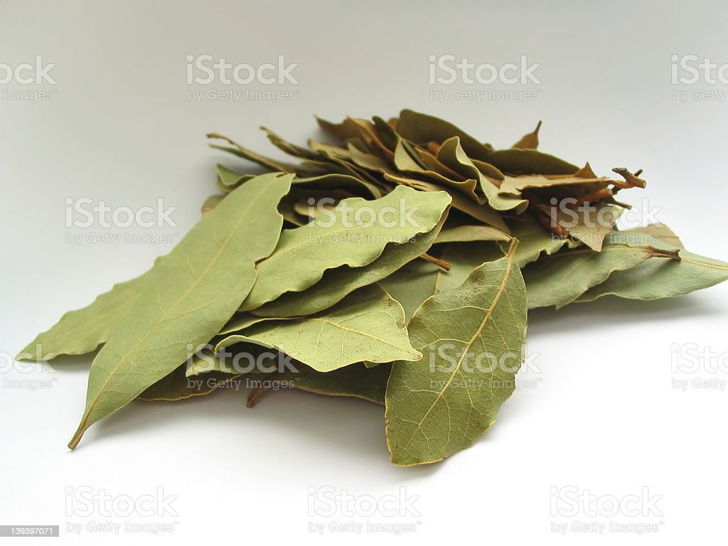 bay leaves pile royalty-free stock photo