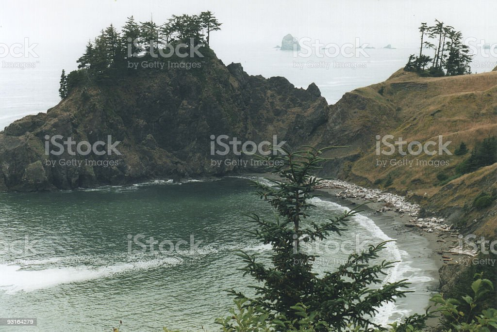 Bay near Highway 101 royalty-free stock photo