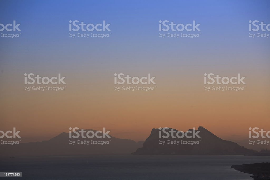 bay of algeciras and gibraltar in andalusia, spain royalty-free stock photo