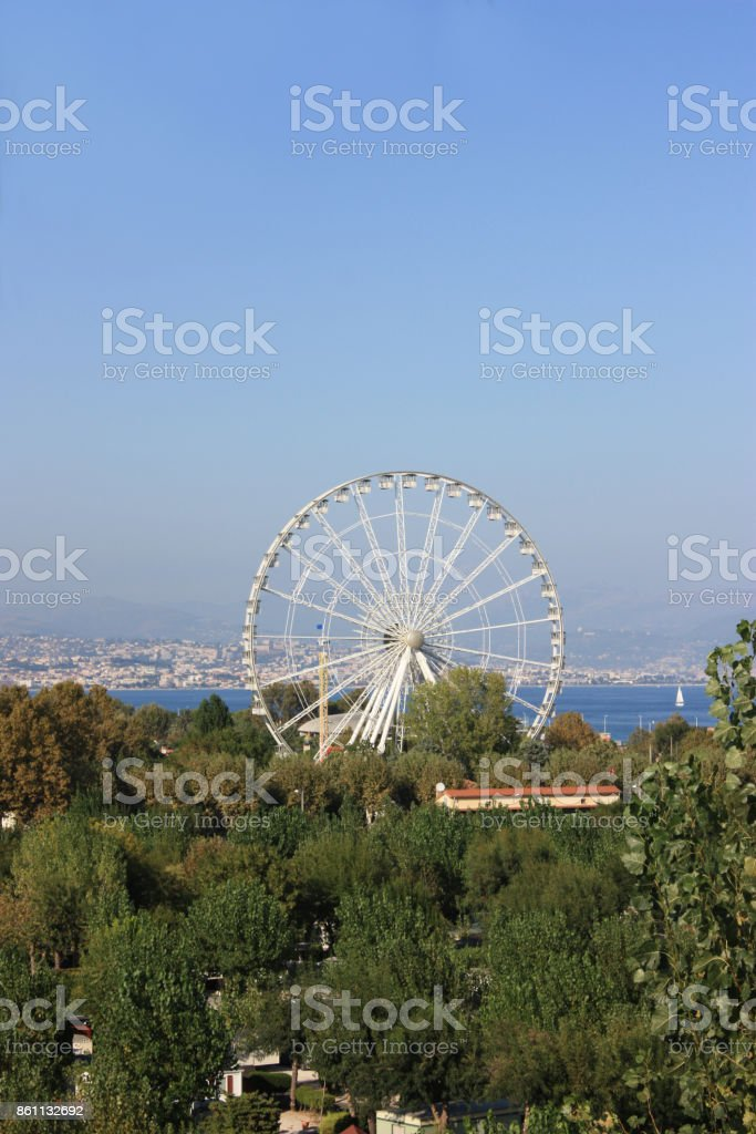 'Baie des anges'  La Grande roue   Alpes maritimes stock photo