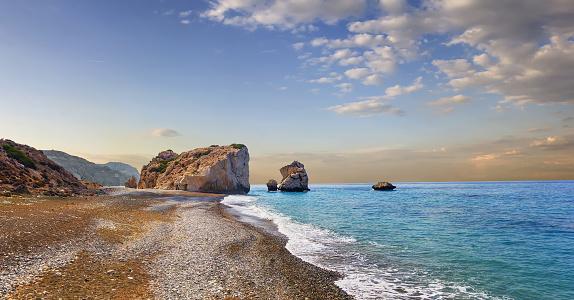 istock Bay of Aphrodite. Paphos, Cyprus 579444896
