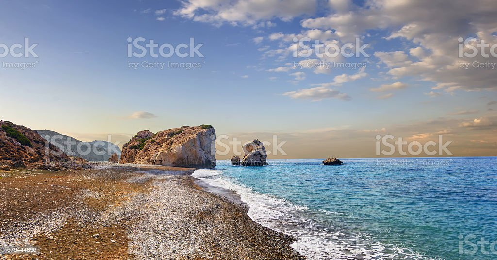 Bay of Aphrodite. Paphos, Cyprus stock photo