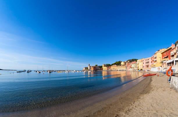 Bay of Baia del Silenzio in Sestri Levante in Italy – Foto