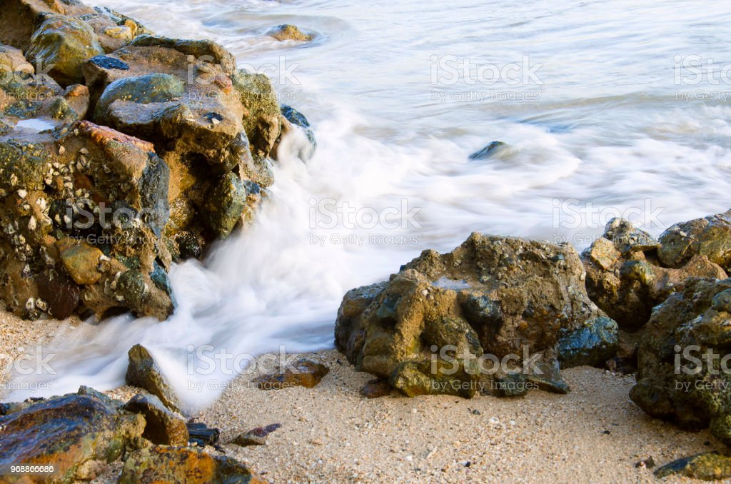Bay of Bengal and Andaman Sea, Chidiya Tapu, Port Blair, Andaman and Nicobar Island stock photo