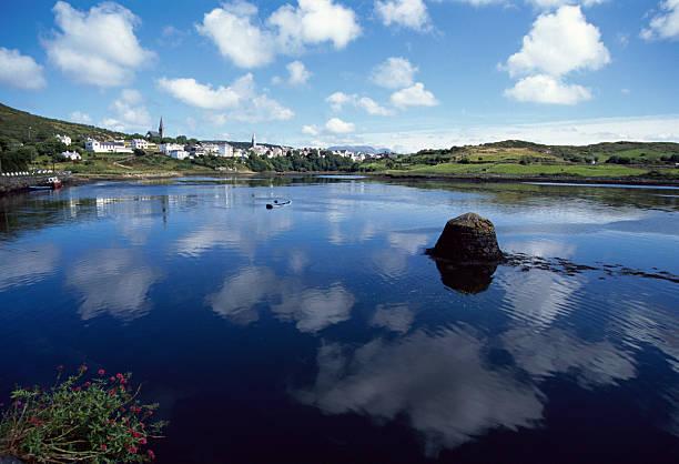 Bay of Clifden, Connemara, Ireland stock photo