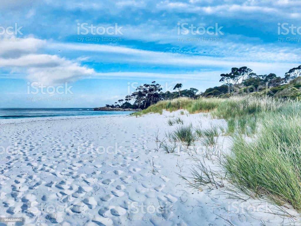 Bay of Fires beach, Tasmania stock photo