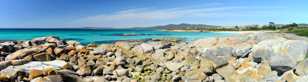 Bay of Fires is one of Tasmania's most popular conservation reserves, Tasmania, Australia stock photo