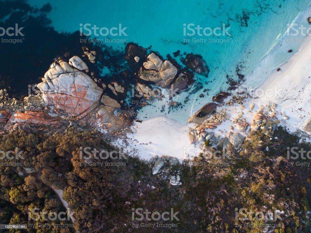 Bay of Fires, Tasmania Aerial stock photo