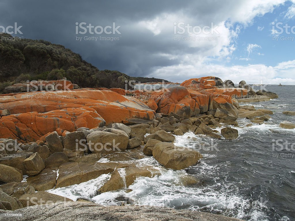 Bay of Fires, Tasmania, Australia royalty-free stock photo