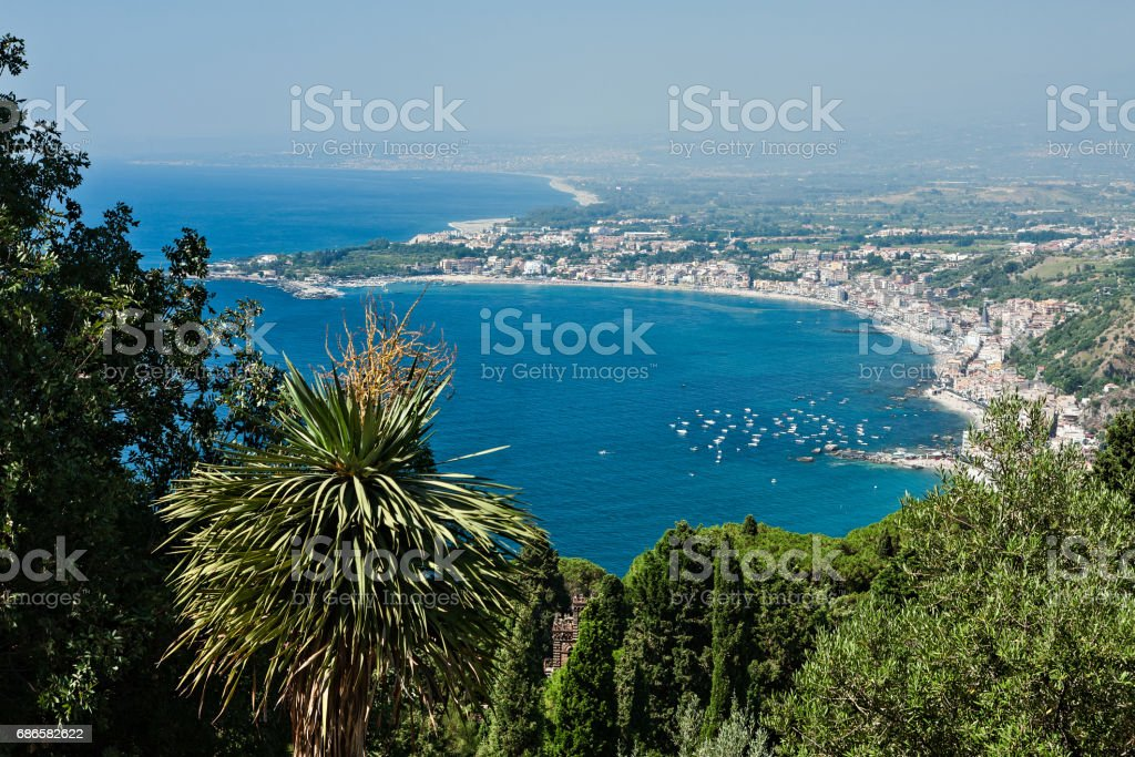 Bay of Giardini Naxos, Sicily, Italy royalty-free stock photo