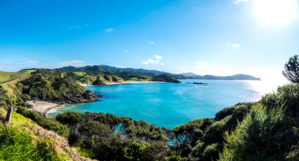 Bay of Islands Aerial View stock photo