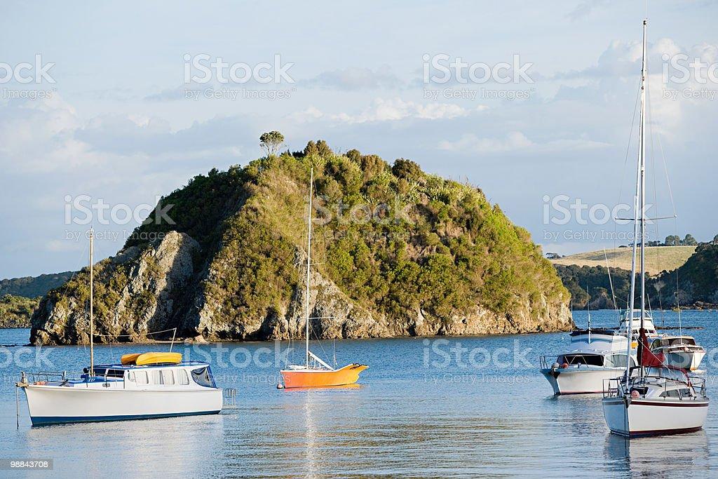 Bay of Islands, yachts in the bays near Kerikeri royalty-free stock photo