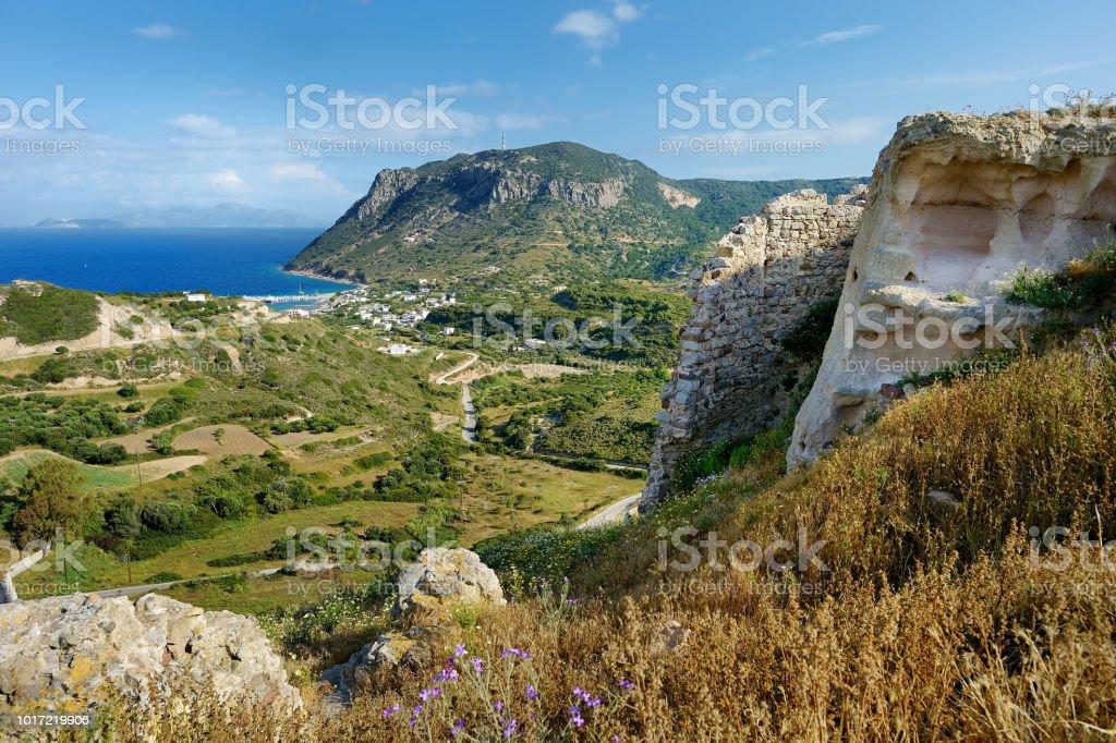 Bucht von Kefalos auf einer griechischen Insel Kos - Lizenzfrei Alt Stock-Foto
