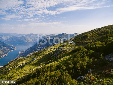 istock Bay of Kotor from the heights. View from Mount Lovcen to the bay 675087180