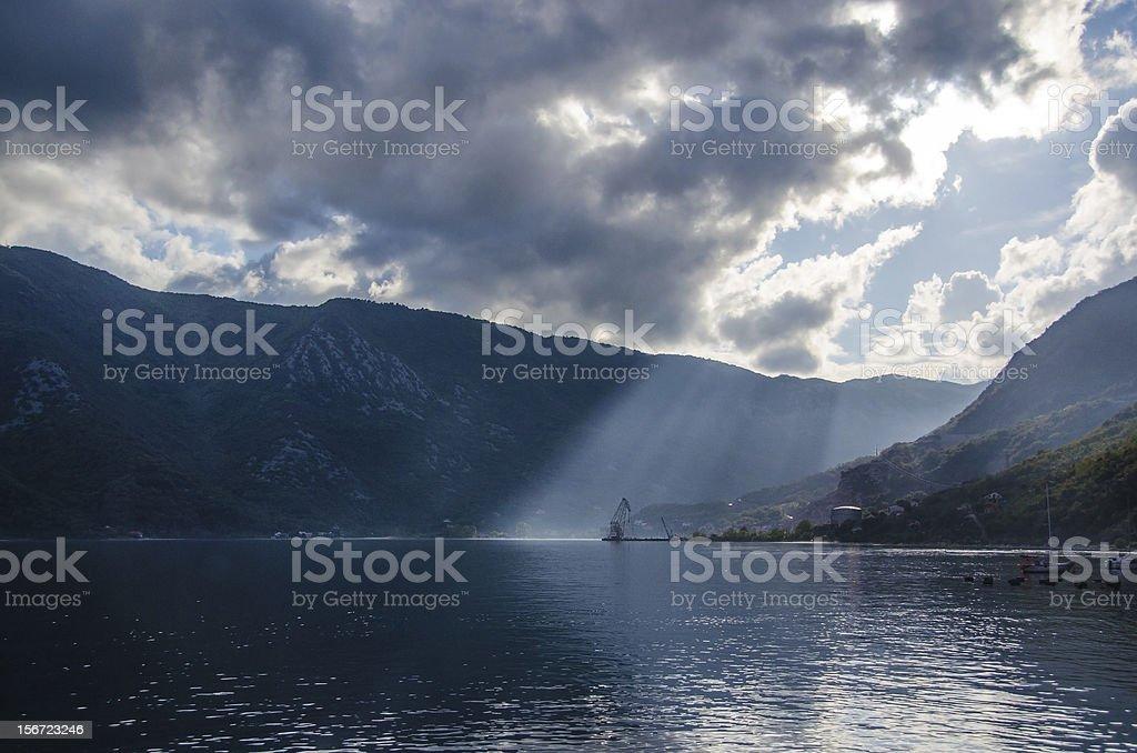 Bay of Kotor, Montenegro royalty-free stock photo