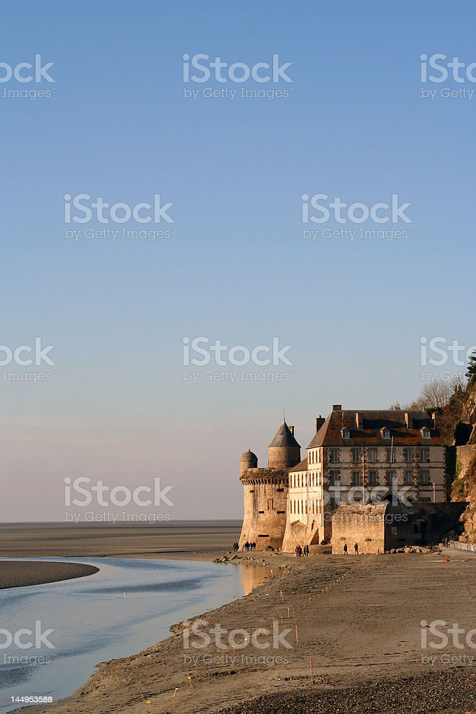 bay of Mont Saint Michel at low tide royalty-free stock photo