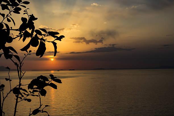 Bucht der Naples bei Sonnenuntergang – Foto