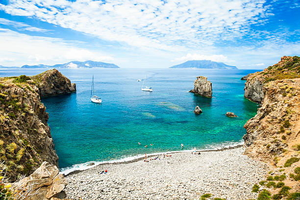 Bay of Panarea stock photo