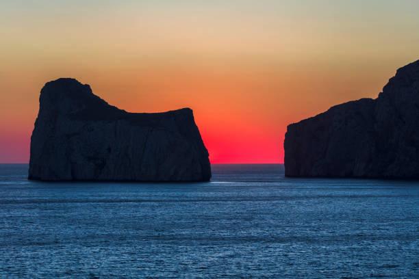 Bay of Porto Flavia stock photo