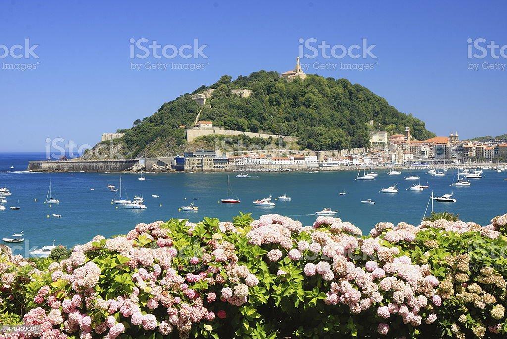Bay of San Sebastian stock photo