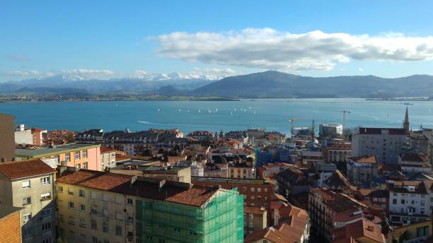 Bay of Santander This is the Bay of Santander from General Dávila street in Santander, Cantabria, Spain. It was taken in February 20th, 2016. santander spain stock pictures, royalty-free photos & images