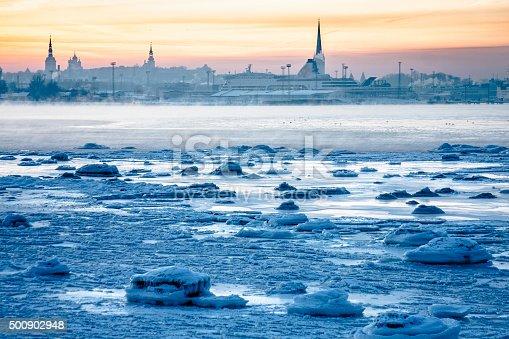 Bay of Tallinn in Winter