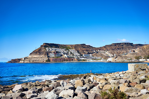Bay of Tauro and Cura Beach in Gran Canaria in Spain