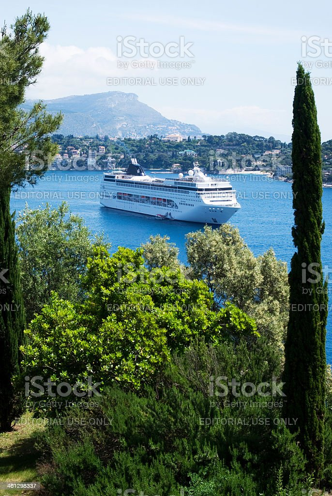 Bay of Villefranche royalty-free stock photo