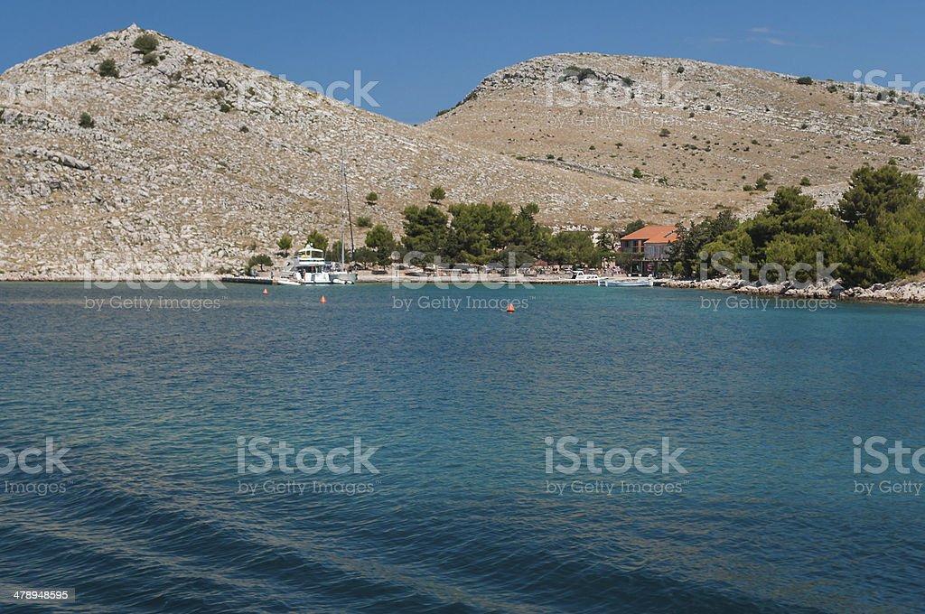 Bay on the island of Kornati National Park, Croatia royalty-free stock photo