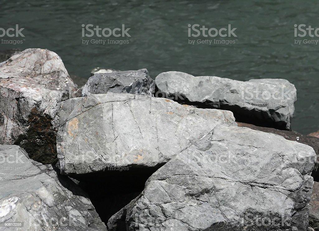 Bay Rocks royalty-free stock photo
