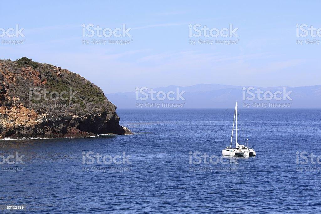 Bay Sailboat royalty-free stock photo