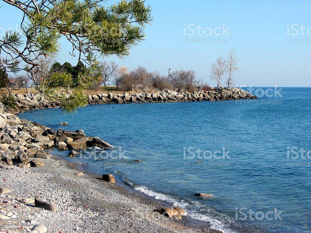 Bay shore coast royalty-free stock photo