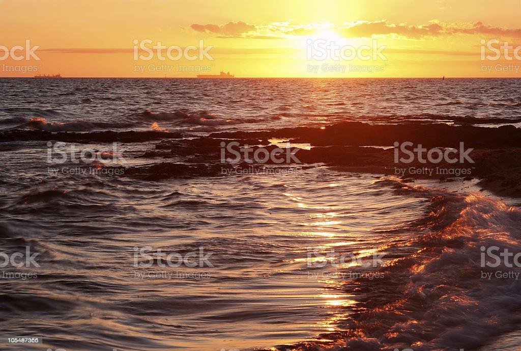 Bay Sunset royalty-free stock photo