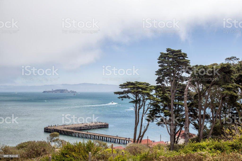 Utsikt över bukten - Royaltyfri Alcatraz Island Bildbanksbilder