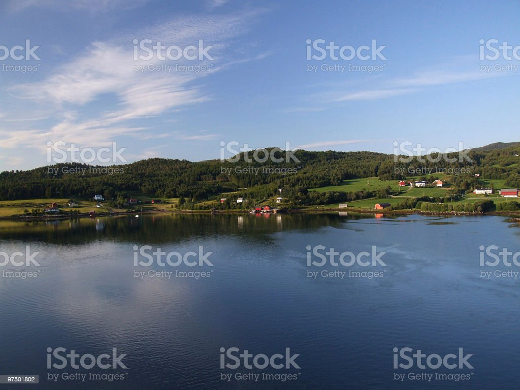 Bay water in Norway royalty-free stock photo