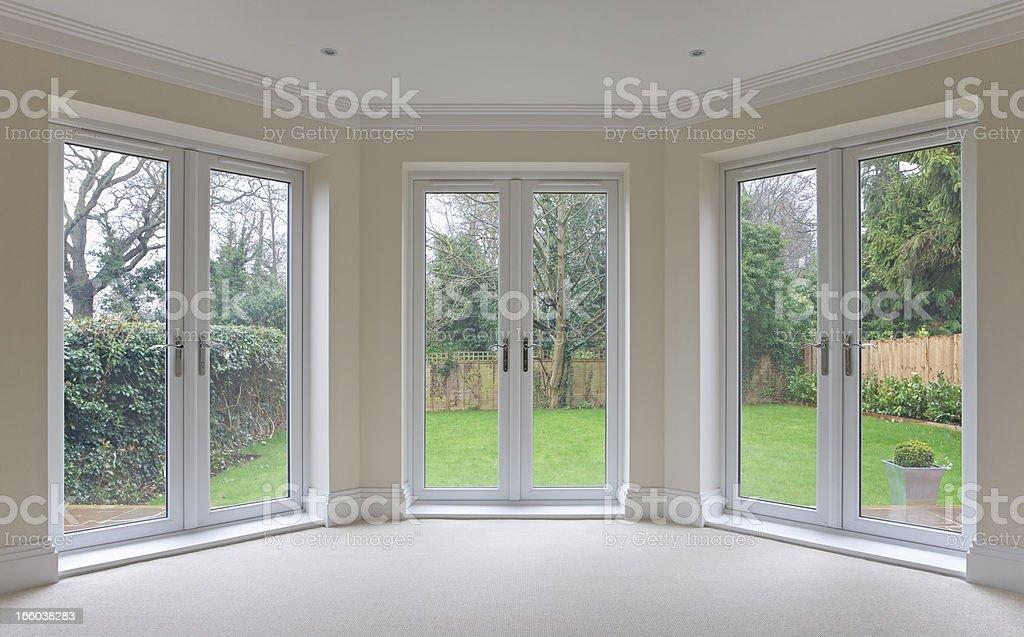 bay window patio doors royalty-free stock photo