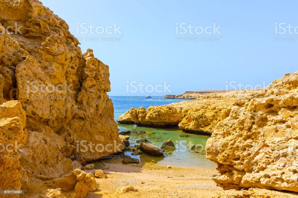 Bay With Blue Water In Ras Muhammad National Park In Egypt Stock Photo Download Image Now Istock