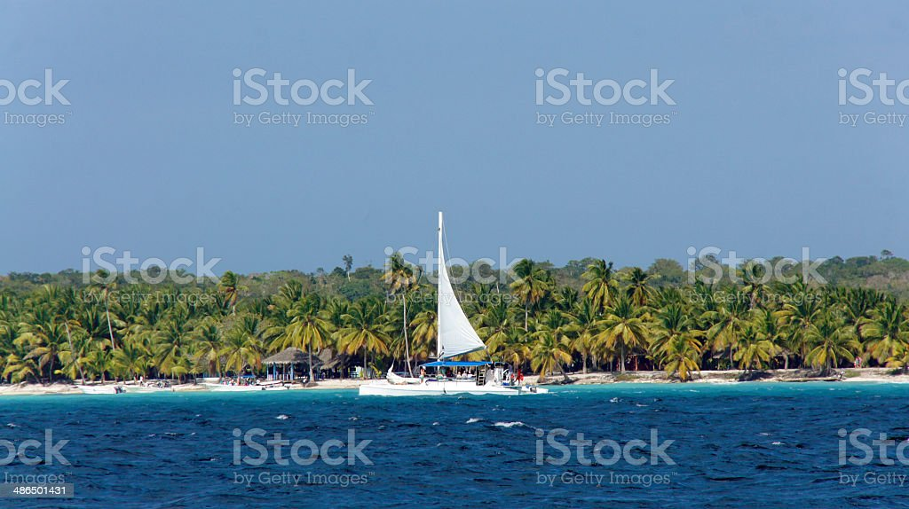 Puerto de bayahibe - foto de stock