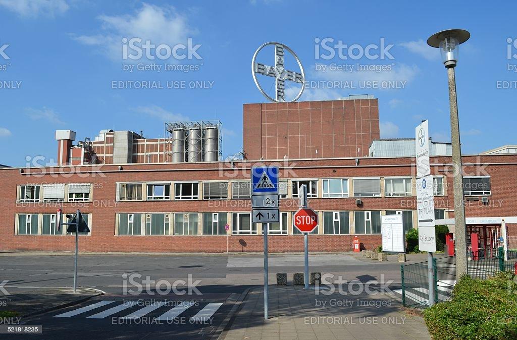 Bayer AG Krefeld, Headquarter and Plant - Bayer AG Krefeld stock photo