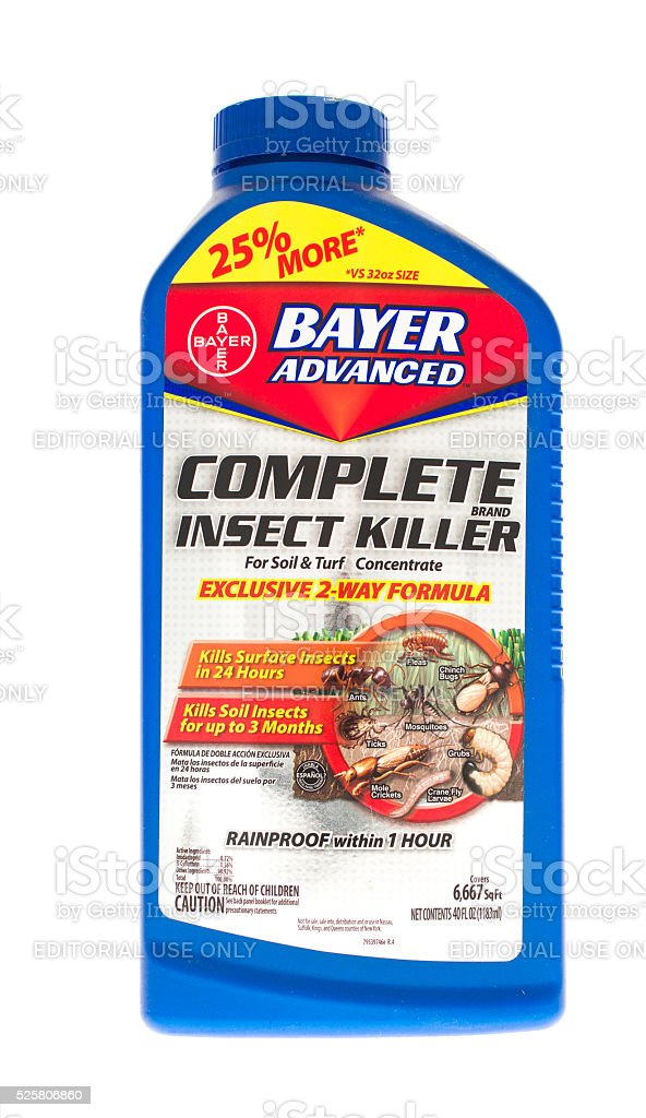 Bayer Insect Killer stock photo