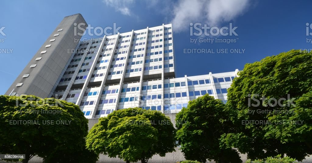 Bayer Pharma AG, Administration and Laboratory Buildings of Bayer HealthCare Pharmaceuticals in Berlin-Wedding, Germany stock photo