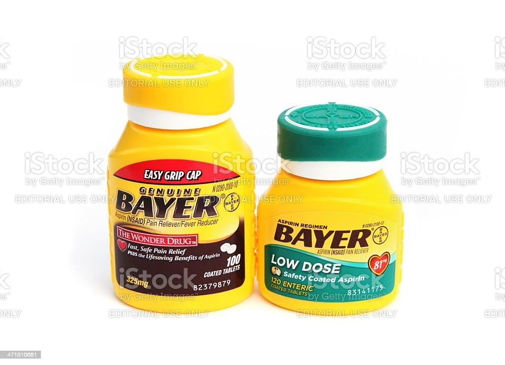Bayer Regular and Low Dose Aspirin stock photo