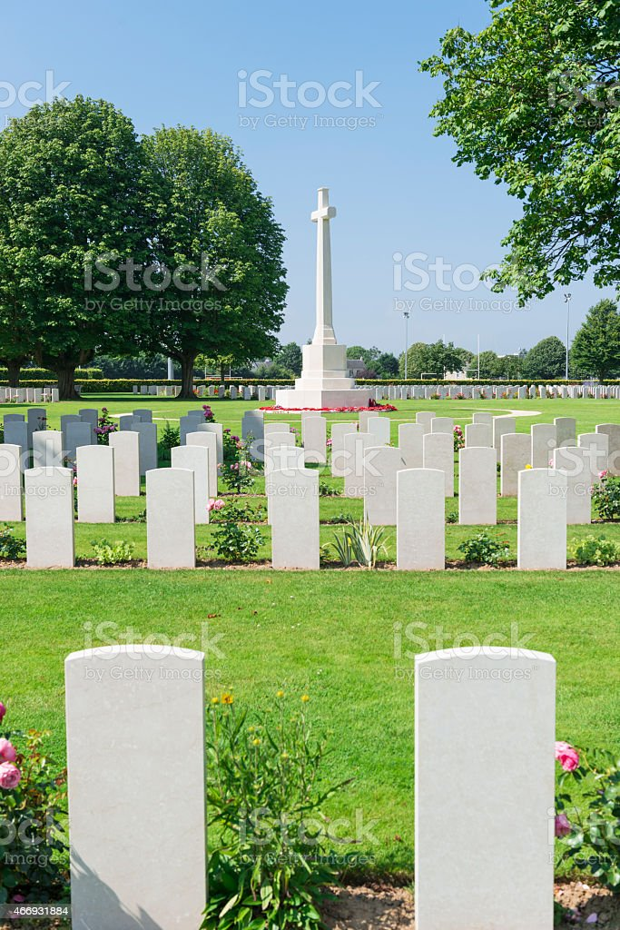 Bayeux Commonwealth war cemetery stock photo